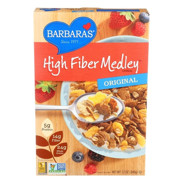Barbara's Bakery High Fiber Cereal - Original - Case of 6 - 12 oz.