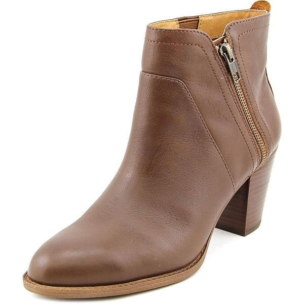 Sofft West Women Round Toe Leather Brown Ankle Boot