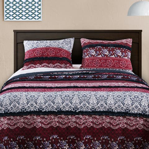 Barefoot Bungalow Monroe Quilted Pillow Shams, Set of Two