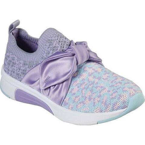 Skechers Girls' Modern Jogger Wild N' Tied Sneaker Lavender/Multi