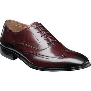 Florsheim Men's Belfast Wingtip Oxford Burgundy Smooth Leather
