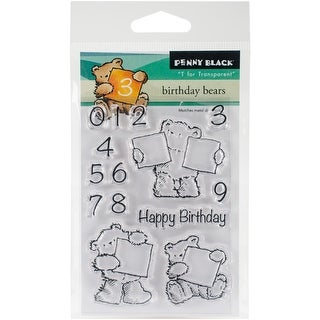 "Penny Black Clear Stamps 3""X4""-Birthday Bears"