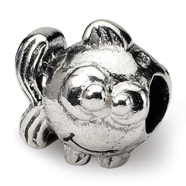 Sterling Silver Reflections Kids Fish Bead (4mm Diameter Hole)