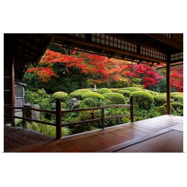 """""""Shisendo's zen garden from meditation hall"""" Poster Print"""