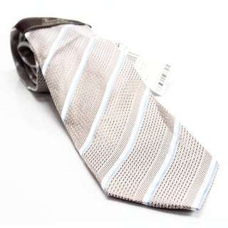 Tasso Elba NEW Beige Taupe Tivoli Thin Striped Mens Silk Classic Necktie