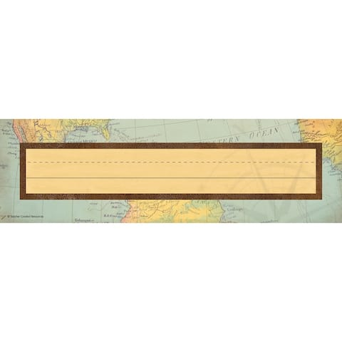 "Travel the Map Flat Name Plates, 11.5"" x 3.5"", 36 Per Pack 6 Packs - One Size"
