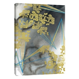 """PTM Images 9-108619  PTM Canvas Collection 10"""" x 8"""" - """"Golden Fractals 6"""" Giclee Abstract Art Print on Canvas"""