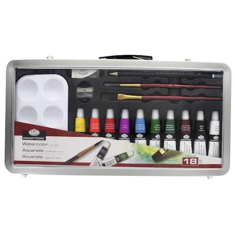Rset-art2805 royal art set metal case watercolor paint 18pc