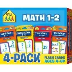 Math 1-2 - Flash Cards 4-Pack