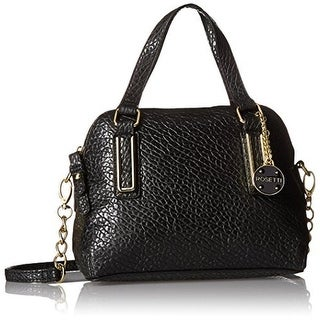 Rosetti Womens Micro Polly Textured Faux Leather Crossbody Handbag - Medium