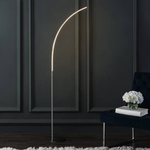Curva Metal Minimalist Modern LED Integrated Floor Lamp by JONATHAN Y