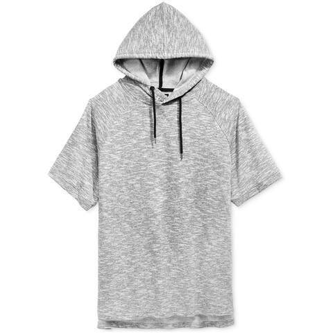 Ocean Current Mens Space-Dye SS Hoodie Sweatshirt, Grey, Small