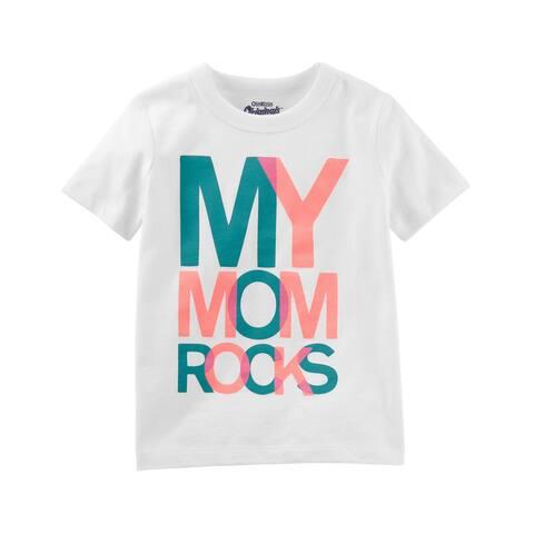 OshKosh B'gosh Baby Girls' Originals Graphic Tee, My Mom Rocks