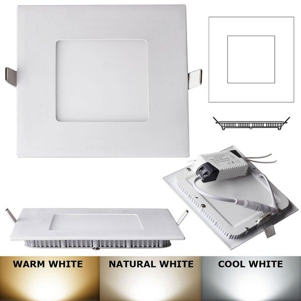 6W -Square LED Recessed Light Ceiling Bulb Lamp  Natural white 4000k-4500K Non- Dimmable