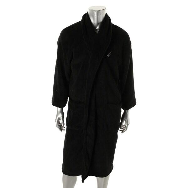 Nautica Mens Long Robe Plush Shawl Collar - o/s
