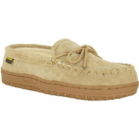 Old Friend Women's Terry Cloth Moccasin Slipper Chestnut/Cloth