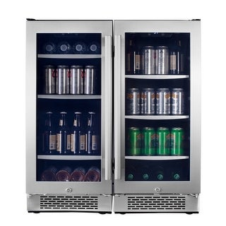 Avallon ABR151SGDUAL 30 Inch Wide 172 Can Energy Efficient Beverage Center with