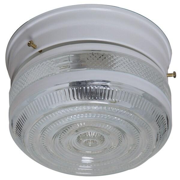 Boston Harbor F13WH01-6859CL-3L Flush Mount Ceiling Light Fixture, White