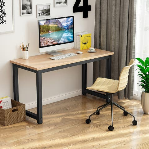 Computer Desk 55-inch Modern Style Study Writing Table