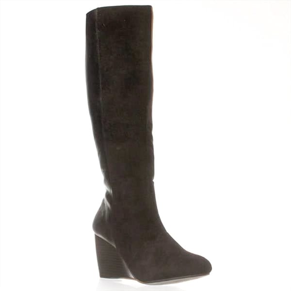 Leila Stone Womens Treasa Closed Toe Knee High Fashion Boots