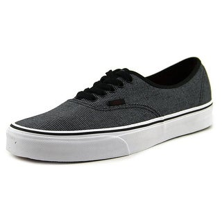 Vans Authentic Men  Round Toe Canvas Black Skate Shoe