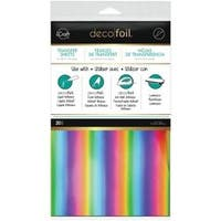 "Rainbow - Deco Foil Transfer Sheets 6""X12"" 20/Pkg"