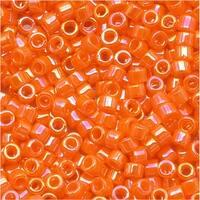 Miyuki Delica Seed Beads 11/0 Opaque Mandarin AB Orange DB1573 7.2 GR