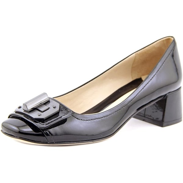 Carolinna Espinosa Naughton Women  Round Toe Patent Leather  Heels