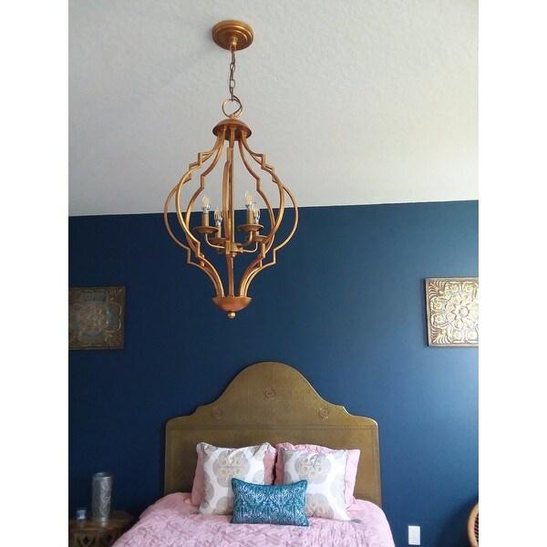 trellis lighting. gold leaf trellis 4light chandelier free shipping today overstockcom 16602869 lighting