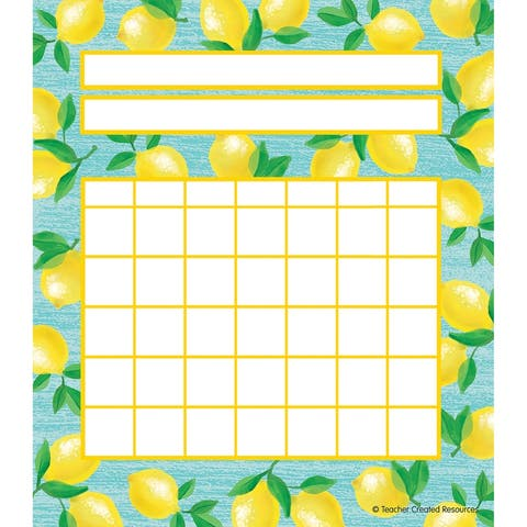 Lemon Zest Incentive Charts, Pack of 36