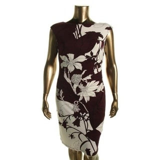 Lauren Ralph Lauren Womens Floral Print Ruched Wear to Work Dress