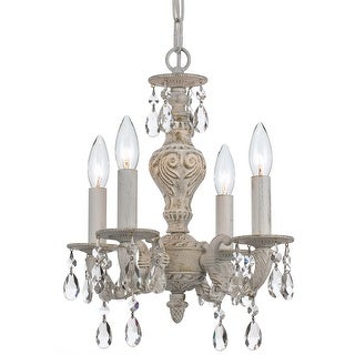 Link to Paris Market 4 Light Spectra Crystal White Mini Chandelier - 13.5'' W x 15'' H Similar Items in Chandeliers