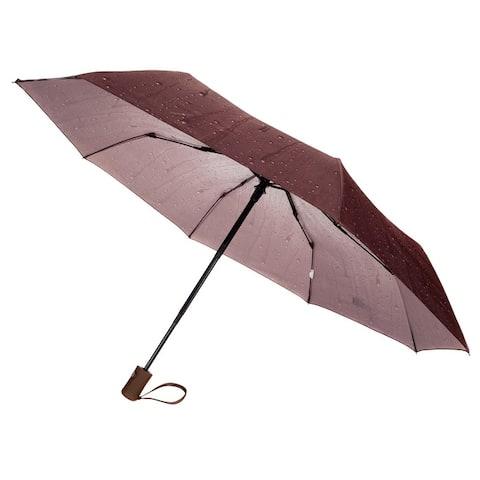 Raindrop Design Protective Sunshade Waterproof Outdoor Travel Umbrella - L