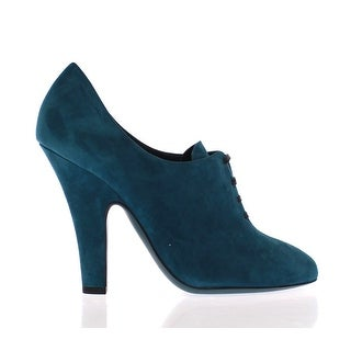 Dolce & Gabbana Blue Suede Leather Booties Shoes Pumps - 41