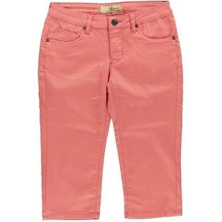 Hybrid & Company Womens Stretch Colored Capri Pants - 1