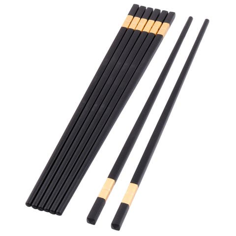 Restaurant Dining Table Wood Chinese Style Vegetable Noodles Chopsticks 5 Pairs