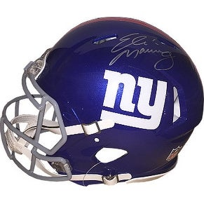 Eli Manning signed New York Giants Full Size Riddell Speed Authentic Helmet left side sig Steiner H