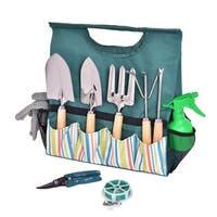 Costway 10PC Gardening Planting Hand Tools Set Gloves Pruner Portable