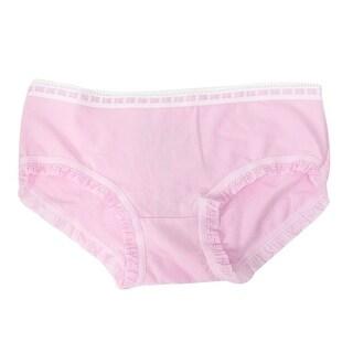 Unique Bargains Woman Stretchy Waist Bowknot Detail Underpants Briefs Pink XS