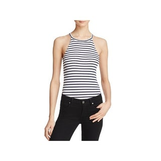 Splendid Womens Bodysuit Halter Striped
