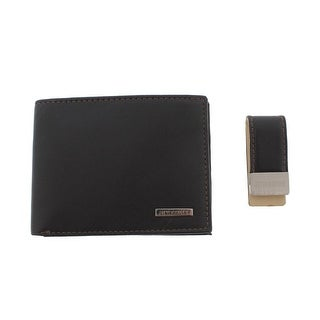 Steve Madden Mens Bifold Wallet Leather RFID Protection - o/s