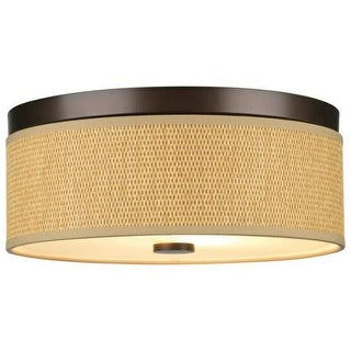 "Forecast Lighting F615120 2 Light 14.88"" Wide Flush Mount Ceiling Fixture from the Cassandra Collection"