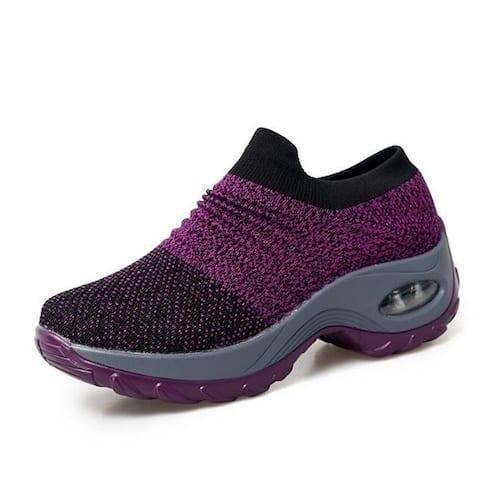 Mesh Sock Sneakers Slip Platform Loafers