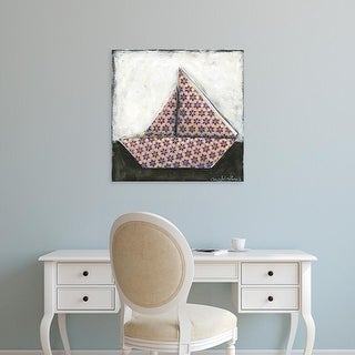 Easy Art Prints Chariklia Zarris's 'Sailboat' Premium Canvas Art