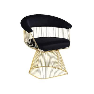 Best Master Furniture Gold Metal Drum Frame Accent Chair