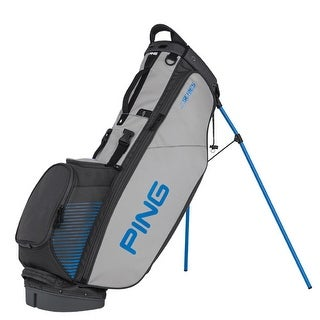 New Ping 4-Series Golf Stand Bag (Charcoal / Gray / Blue) - charcoal / gray / blue