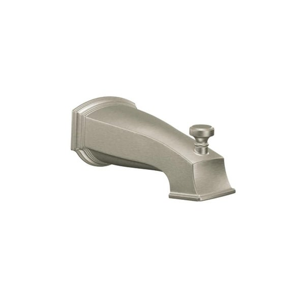 "Moen S3859 7 5/8"" Wall Mounted Tub Spout with 1/2"" Slip Fit Connection from the Rothbury Collection (With Diverter)"