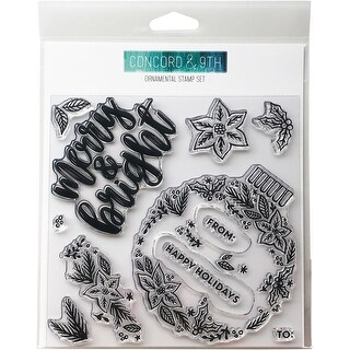 """Concord & 9Th Clear Stamps 6""""X6""""-Ornamental"""