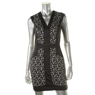 French Connection Womens Printed Pockets Casual Dress - 6