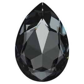 Swarovski Elements Crystal, 4327 Pear Fancy Stone 30x20mm, 1 Piece, Crystal Silver Night F